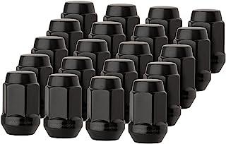 DPAccessories LCB3B2HE-BK04020 20 Black 1/2-20 Closed End Bulge Acorn Lug Nuts - Cone Seat - 3/4