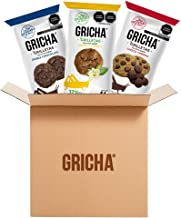 GRICHA | Grilletas surtidas, 15 Pack | Galletas con Proteína Sustentable