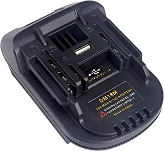 DM18M Battery Adapter for Makita 18V Lithium-ion Power Tools,Convert Milwaukee 18V or Dewalt 20V Lithium-ion Battery to Ma...