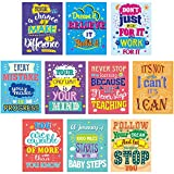 Motivational Posters for Classroom 10 Pack Inspirational Quotes Poster Wall Art for Students Teachers Office Home Decorations