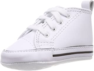 90e730ba21f6 Converse First Star Chuck Taylor Infant Leather Shoes White 81229-3