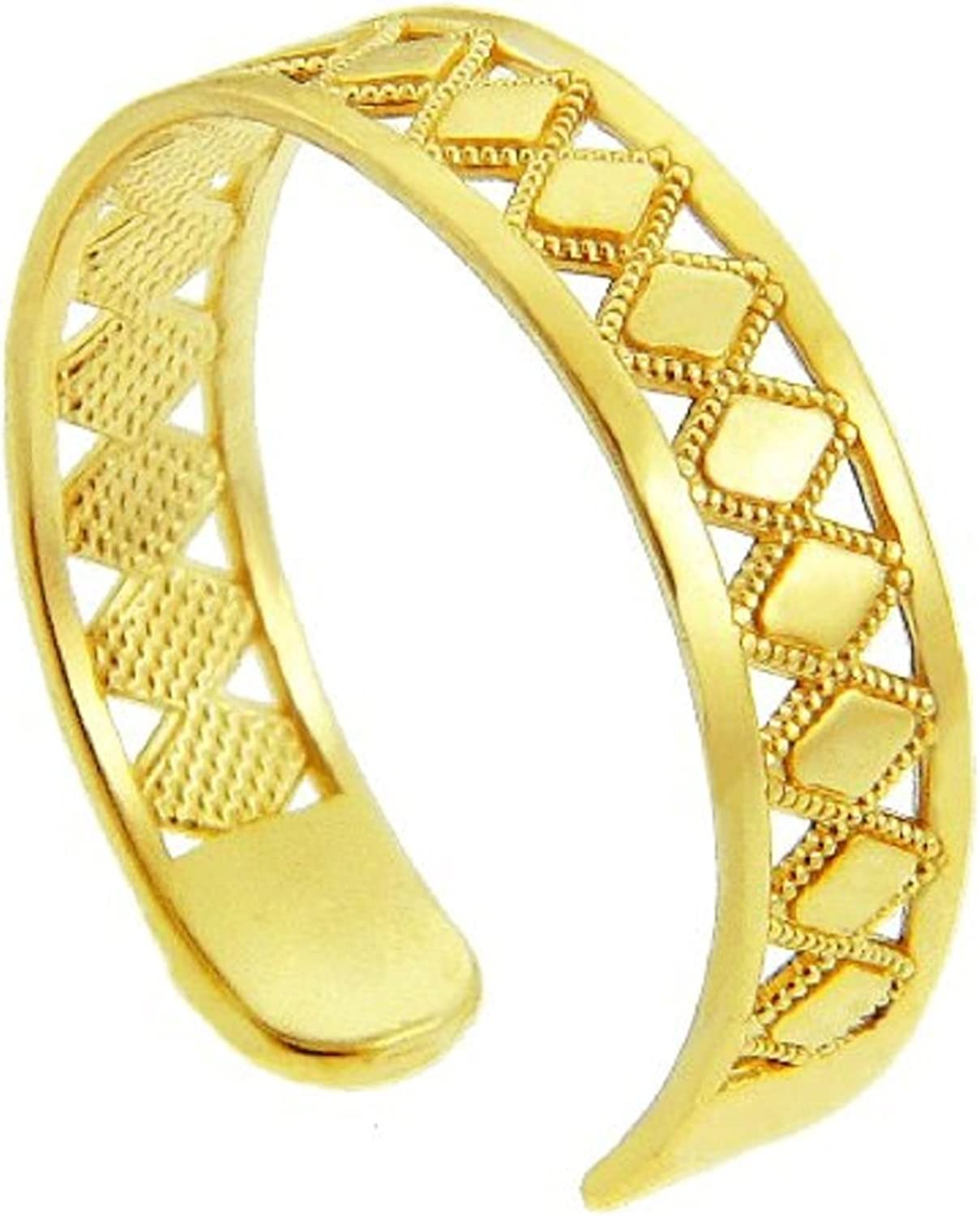 Yellow gold Puzzle Toe Ring (14K gold)