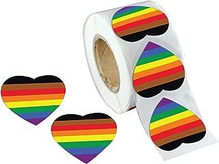 Philadelphia Gay Pride 8 Stripe Rainbow Stickers (1 Roll/500 Stickers)