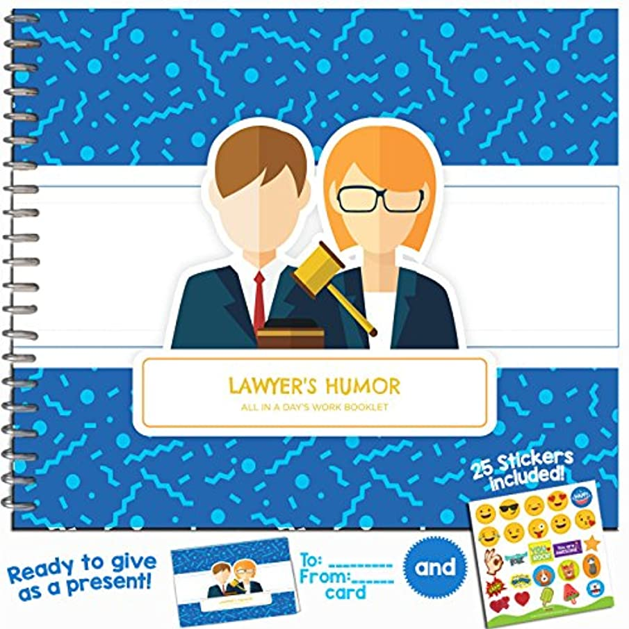Lawyer Gift - The Perfect Present for Your Favorite Attorney, Litigator, Judge, Prosecutor, Law Student, Advocate, Jurist, Defender or Notary - Includes Stickers and a Matching Card
