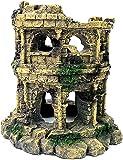 HirrWill Columna romana antigua ruinas castillo europeo acuario decoraciones peces tanque escondite rocas