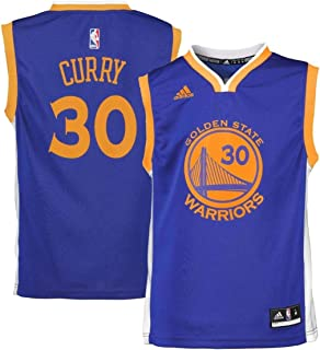 adidas Stephen Curry Golden State Warriors #30 NBA Youth Road Jersey Blue