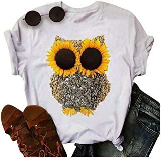 Graphic Casual Novelty Sunflower Crewneck