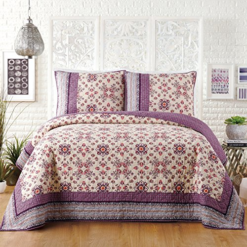 Jessica Simpson LOLA Quilt, King 104X90, Purple