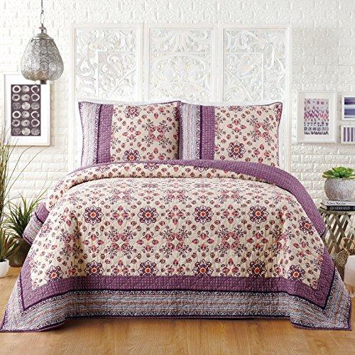 Jessica Simpson LOLA Quilt, King 104X90, Purple