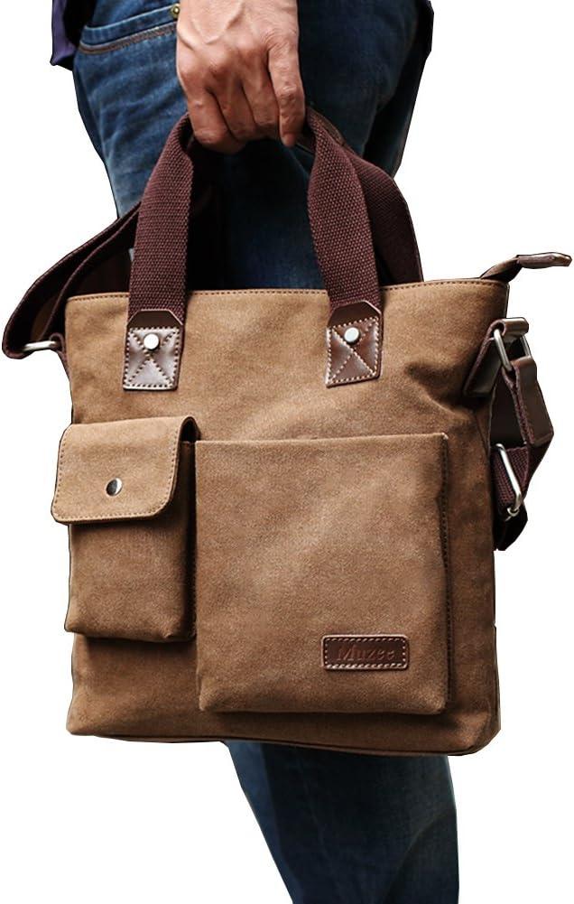 Hflove Men's Leisure Single Shoulder Bag Inclined Shoulder Bag Canvas Handbag