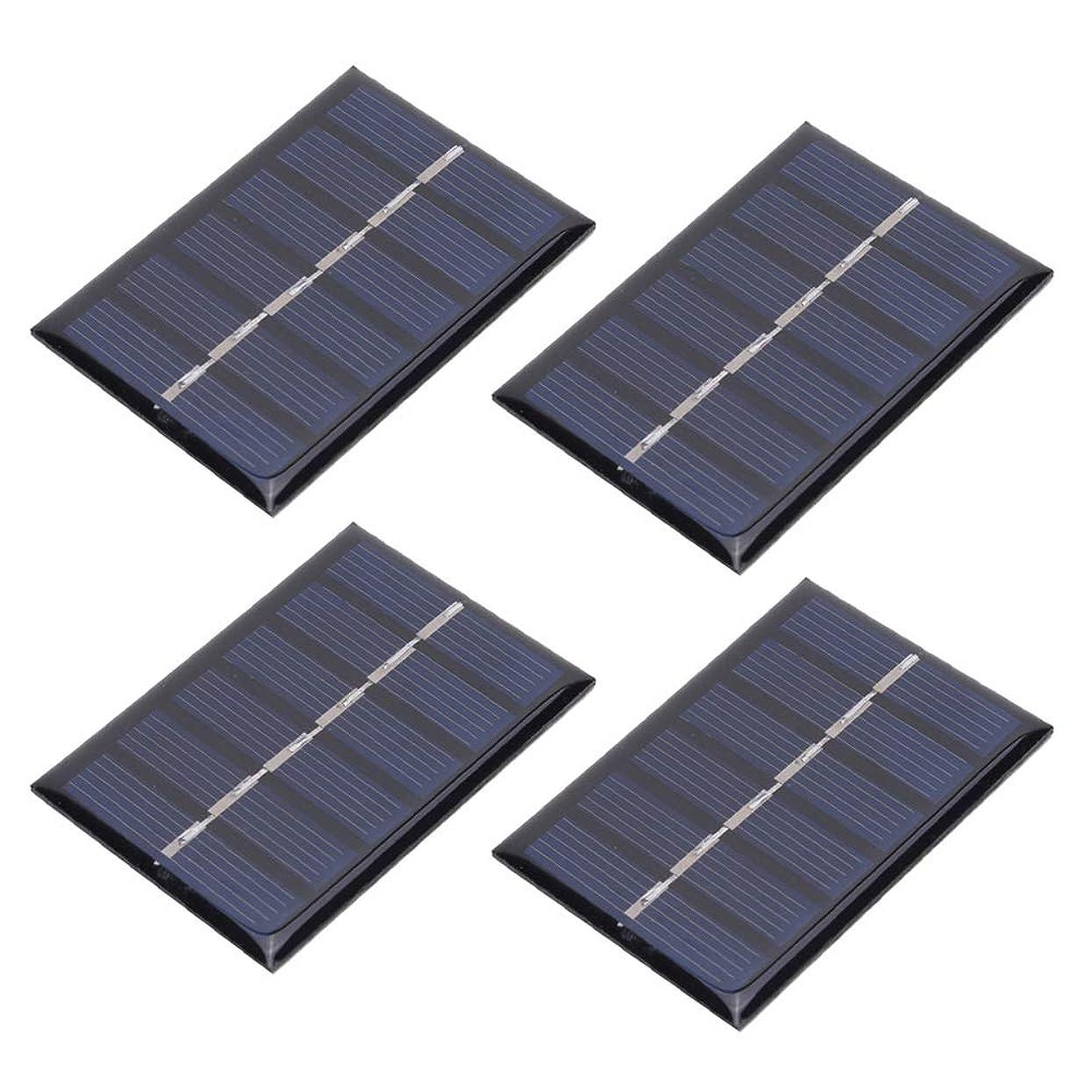 ガラガラ反映するアノイAelooa 4本3V 100MA 0.3W DIYポータブルソーラー発電はパネルのエポキシボード65 * 48MM充電