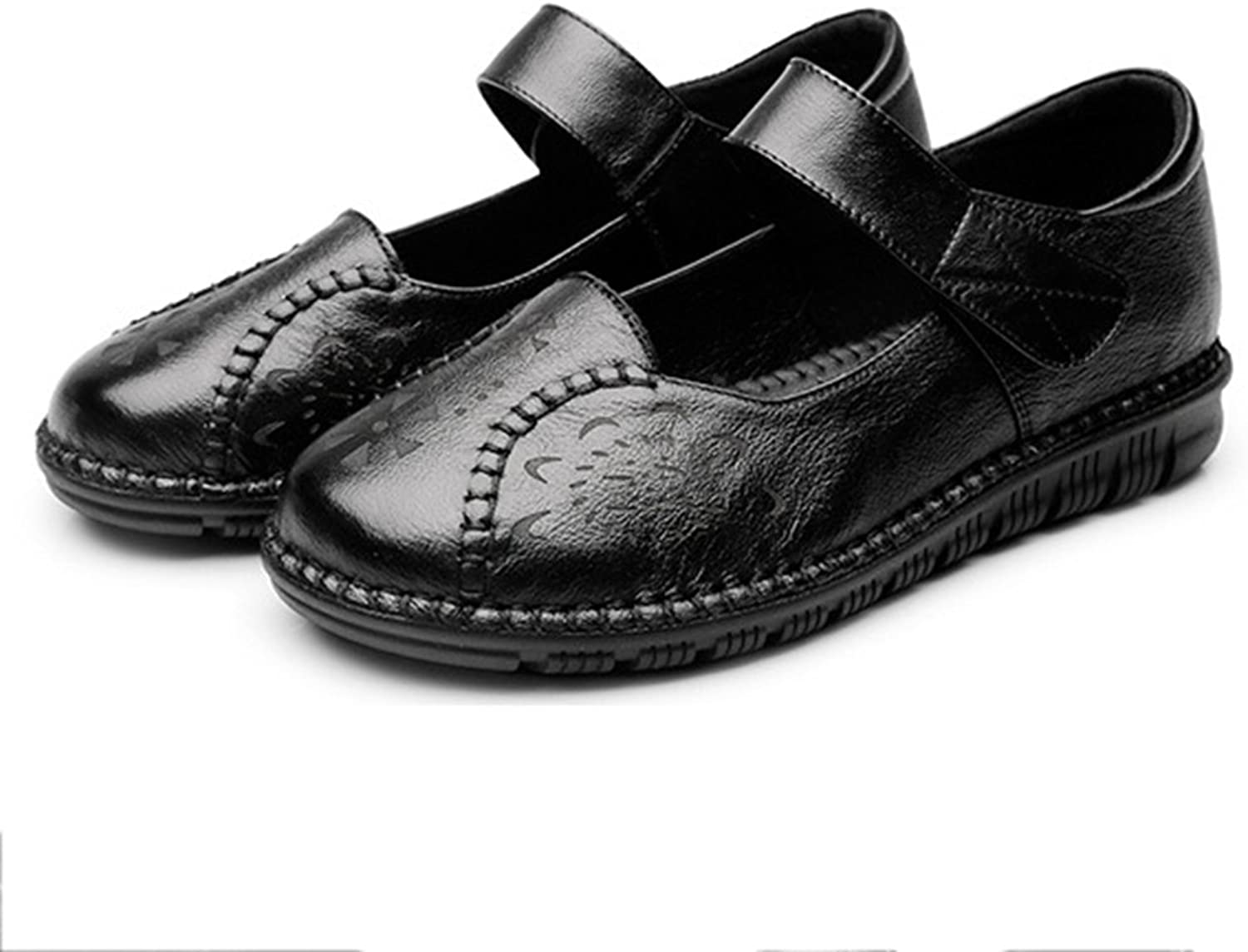 Btrada Women's Slip On Loafers shoes Round Toe Handmade Antiskid Driving Moccasins Flat Mary-Jane shoes