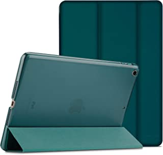 Procase iPad 9.7 Case 2018 iPad 6th Generation Case / 2017 iPad 5th Generation Case - Ultra Slim Lightweight Stand Case with Translucent Frosted Back Smart Cover for Apple iPad 9.7 Inch –Emerald