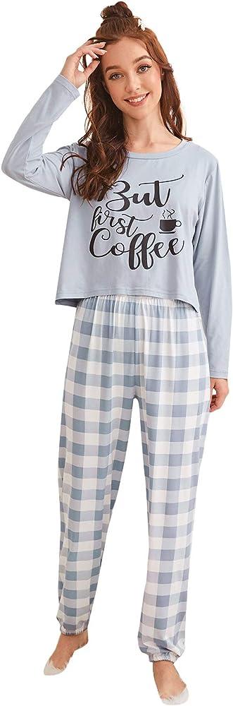 Soly hux ,set di pigiama da donna, a maniche lunghe,95% poliestere, 5% elastan 10191203102-15-9-S