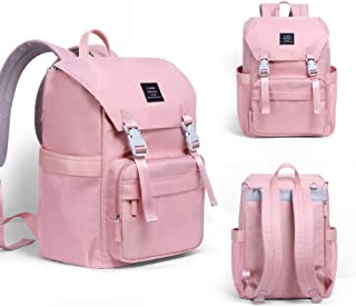 Diaper Bag Backpack for Baby Care, Mummy Multi-Function Waterproof Travel Backpack,Anti- Theft Nappy Bags for Mom/Dad with Insulated Pockets, Travel Outdoor Baby Shoulder Bags (Pink)