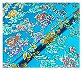 MUYUNXI Tela Saten Tela Raso por Metros para Vestidos De Novias Pijamas Vestidos Blusas Ropa Interior Artesanías 75 Cm De Ancho Vendido por Metro(Color:Lago Azul)