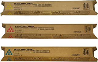 Ricoh 841421, 841422, 841423 Standard Yield Toner Cartridge Set Colors Only (C/M/Y)
