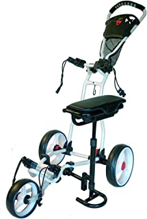 Spider 3 Wheel Golf Cart with Seat (White)