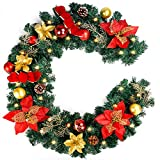 COCOBOO 6 Feet / 72 Inches Christmas Garland Artificial Pine Garland Holiday Decor for Winter Christmas, Battery Operated 30 LED Lights