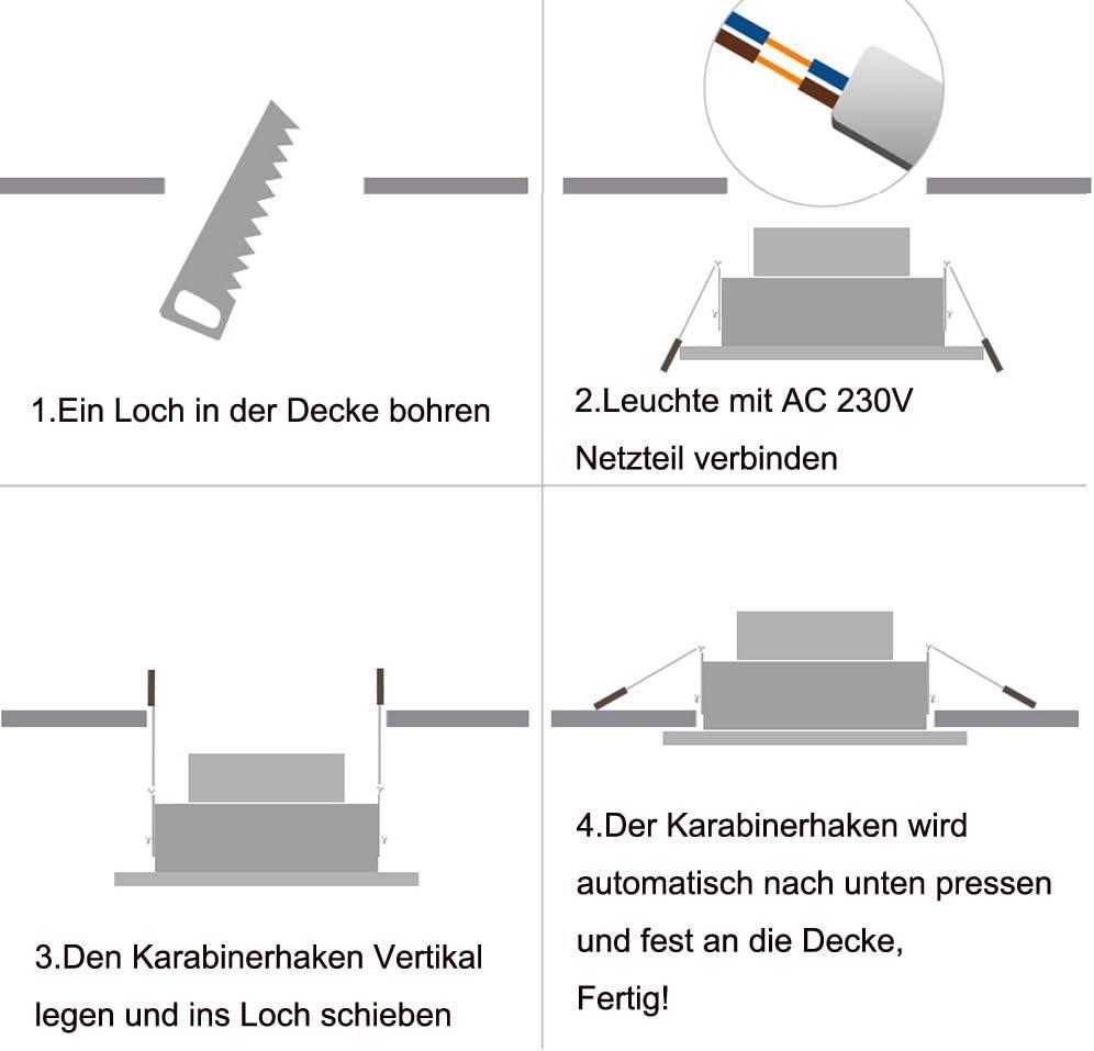 Hengda® 20X 3W LED SMD Spot Einbauleuchte Strahler Decken Lampe 6000-6500k Weiß AC 230V +Treiber 20pcs 7w Warmweiß Dimmbar
