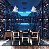カスタム写真の壁紙3Dステレオスコピックブルーテクノロジー展示会ボードの背景大きな壁画オフィス研究室の装飾の壁紙, 200cm×140cm