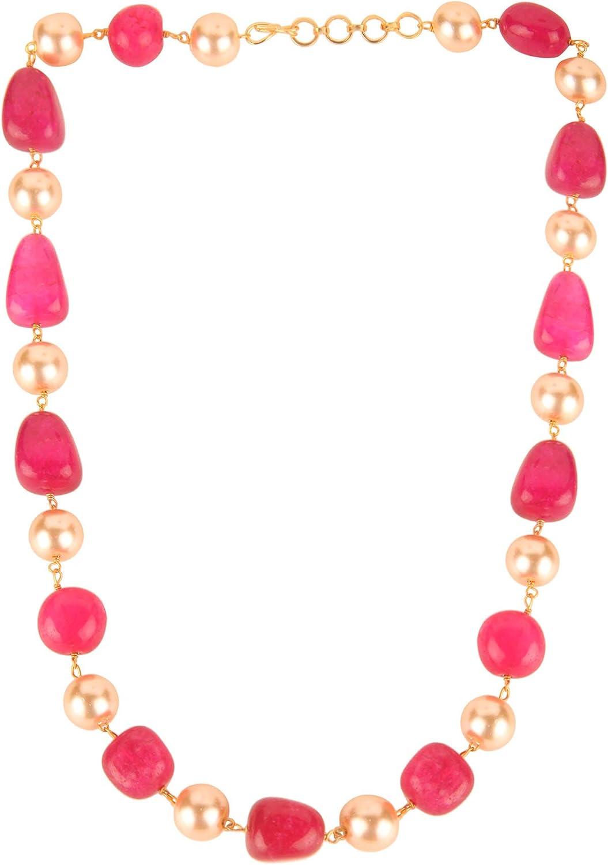 Efulgenz Indian Bollywood Tourmaline Pearl Beaded Strand Bridal Necklace Wedding Jewelry Women