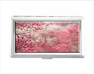 Pink Tumblr Page Design Unisex Stainless Steel Cigarette Holder Case Protection Credit Business Card Storage Box Pocket/Wallet