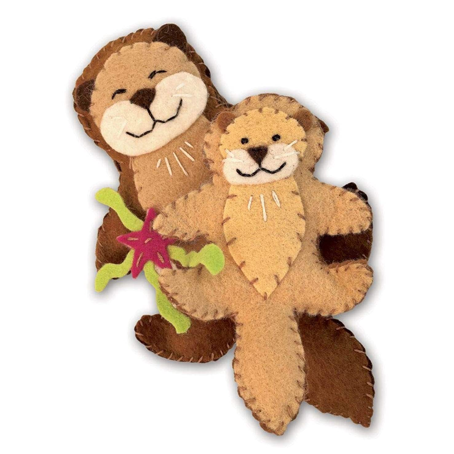 Heidi Boyd   Otterly Adorable   Whimsy Kits   Enjoy Creating Two Adorable Otter Friends with This All Inclusive Felt Craft Sewing Kit Age 13+