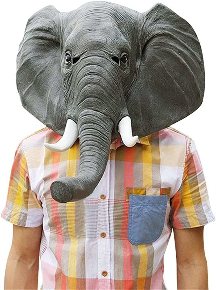 Elephant Mask Latex quality assurance Realistic Cute Animal Halloween Surprise price Costume Cos
