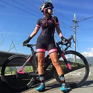 Frauen Radfahren Jersey Triathlon Radfahren Strumpfhosen Feminino Jumpsuit Damen Jumpsuit Sweatshirt Set (Color : 4, Size...
