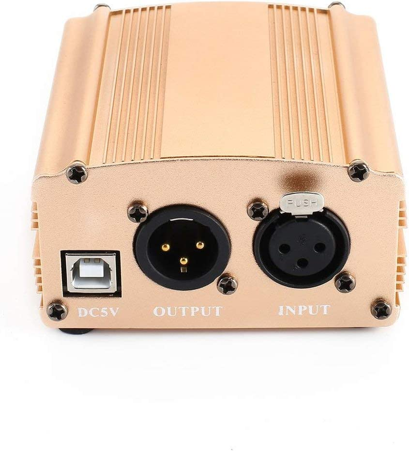 Or Martinrenault Alimentation Fant?me USB 48V Cable USB2.0 Cable de Microphone /à Double Prise pour /équipement denregistrement /à condensateur Micro Microphone