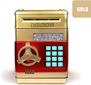 Luixxuer Electronic Piggy Bank ATM Password Money Box Cash Coins Saving Box ATM Bank Safe Box Automatic Deposit Banknote