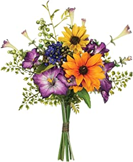 Sullivans Multicolored Mixed Flower Bouquet Polyester Artificial Flowers