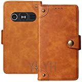 TienJueShi Brown Book Stand Flip Leather Protector Magnet