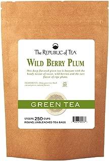 The Republic of Tea Wild Berry Plum Green Tea, 250 Tea Bags, Refreshingly Balanced China Green Tea
