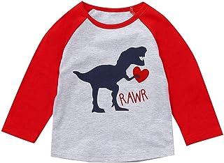 c566e0fceb Jchen Family Matching Valentine T-Shirt Men Women Kids Letter Dinosaur Print  Couple Parent-