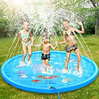 Tomser 69 Inch No More Burst Sprinkle and Splash Play Mat