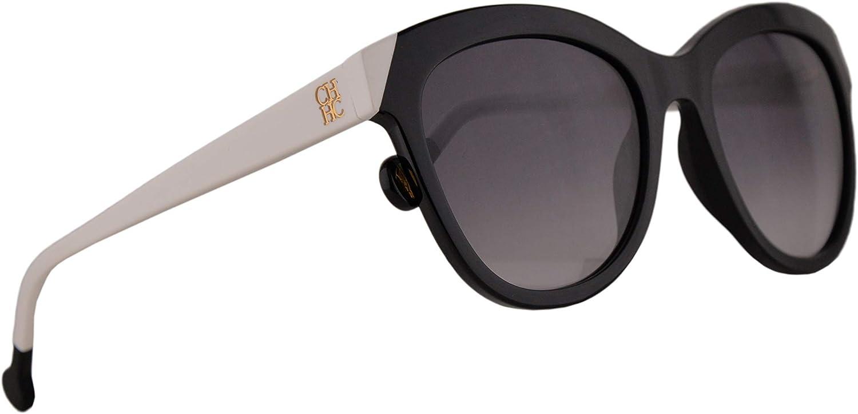 Carolina Herrera SHE743 Sunglasses Black w Smoke Gradient Lens 52mm 0700 SHE 743