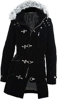 ベロアファイヤーマン コート メンズ ロングコート ファーコート ベルベット セミロング丈 EX-O137006