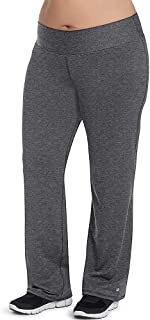 Champion Women's Plus-Size Absolute Semi-Fit Pant with SmoothTec Waistband, Granite Heather
