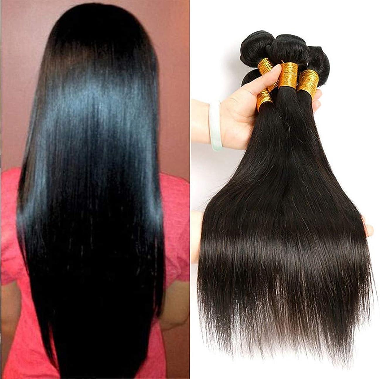 誰が打ち負かすジャンクションブラジルのストレートヘアー女性の髪織り密度150%織り100%未処理のバージン人毛エクステンション
