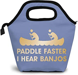 Paddle Faster I Hear Banjos Carry Lightweight Large Capacity Portable Outdoor Luggage Trolley Bag