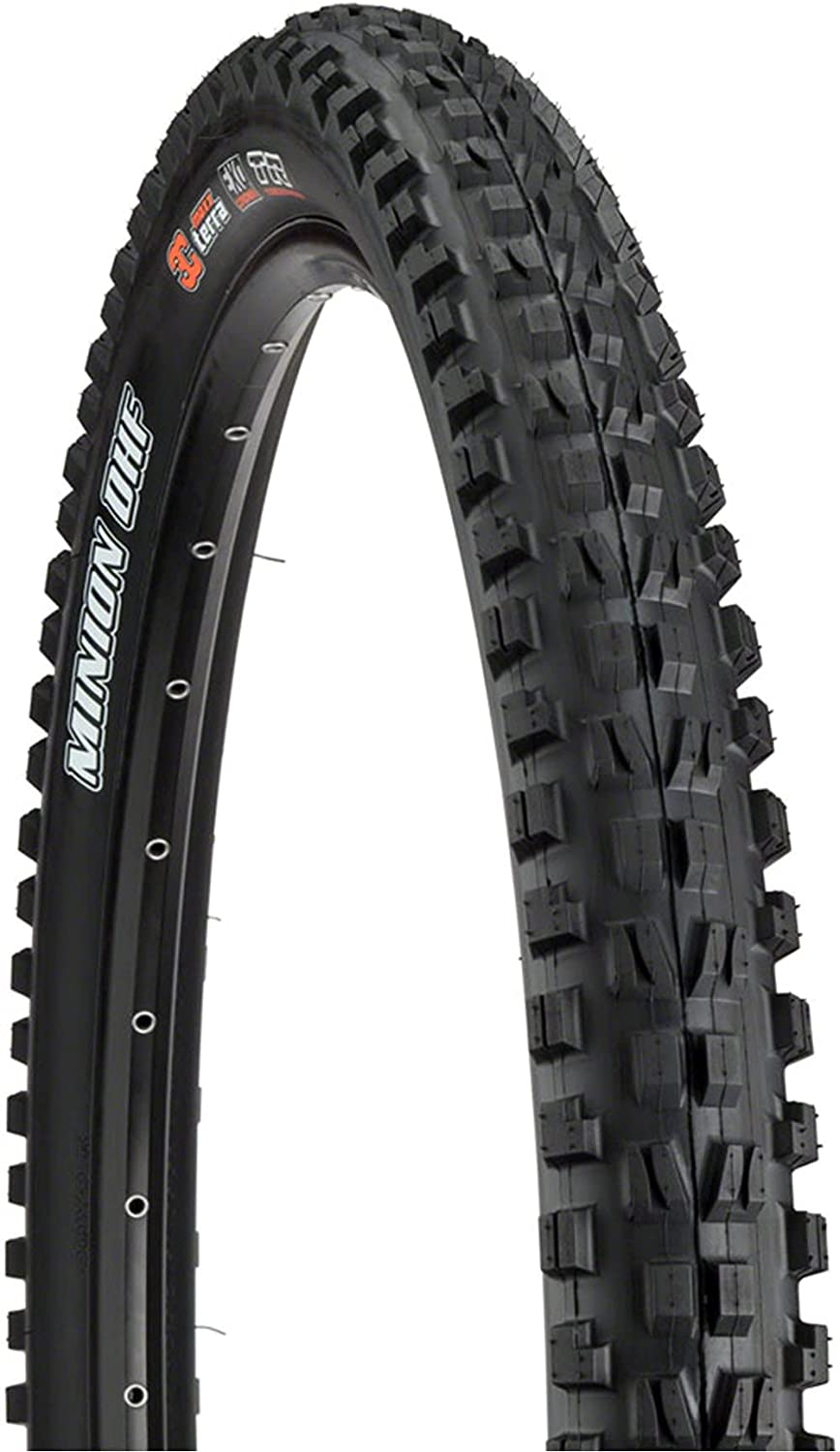 MAXXIS - Minion DHF 3C MaxxTerra Tubeless Ready Folding MTB Tire | Great Traction, Fast Rolling, Long Lasting | EXO Puncture Protection, 27.5, 29 inch Sizes