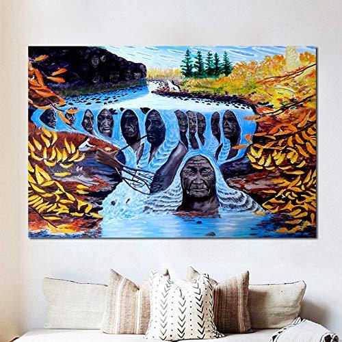 Schilderij canvas schilderij canvas poster schminken instant camera fotoprint wall art giclee pop 40x60cm GEEN frame