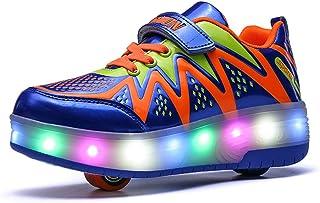 EVLYN LED Light Up Roller Skate Shoes Flashing Sneaker for Boys Girls