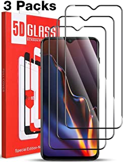 [3 Pack] MEGIVEZ for OnePlus 6T Screen Protector, Tempered Glass [Full Coverage] [Bubble-Free] HD Clear Anti Scratch Film for OnePlus 6T Phone with Lifetime Replacement Warranty