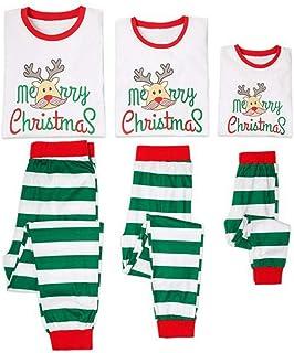Christmas Elk Family Pajamas Cotton Long Sleeve Pants Set Parenting Christmas Pajamas Set