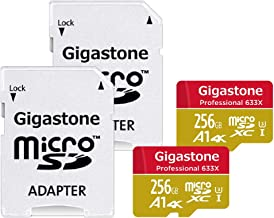 Gigastone Micro SD Card 256GB 2-Pack 4K Ultra HD, Run App for Smartphone, MicroSDXC Memory Card UHS-I U3 C10, Mini Case and SD Adapter High Speed Compatible Nintendo Switch Gopro Tablet PC Camera