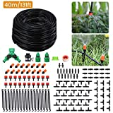Pathonor 40m/131ft Drip Irrigation System Garden Watering Kits Adjustable Nozzle Mist Cooling Outdoors Atomization Balcony Patio Lawn Automatic Micro Irrigation Kit