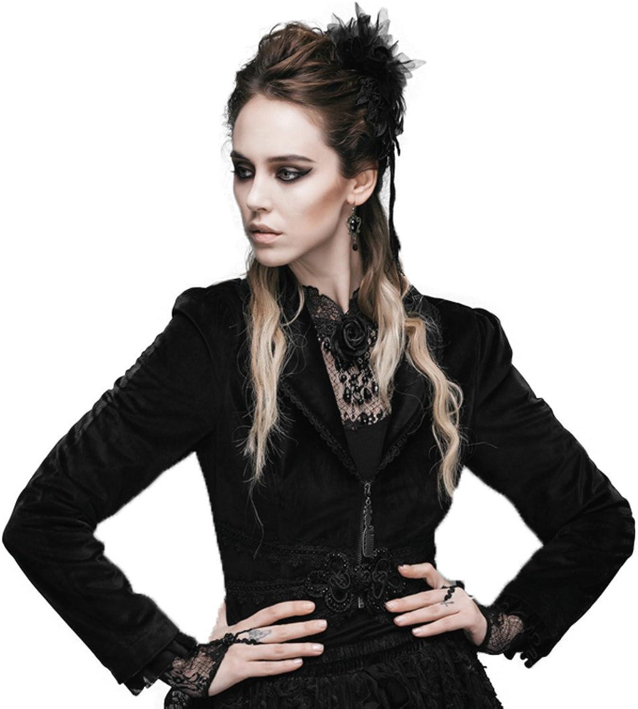 Punk Women Vintage Lapel Short Jacket Court Swallowtailed Coat